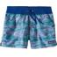 Patagonia Girls Costa Rica Baggies Shorts Reef Waves: Superior Blue